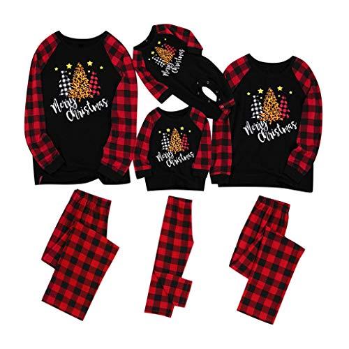 Zilosconcy Pijamas De Navidad Familia Conjunto Mujer Hombre Niños Camisetas De Manga Larga Sudadera Chándal Familia Conjunto