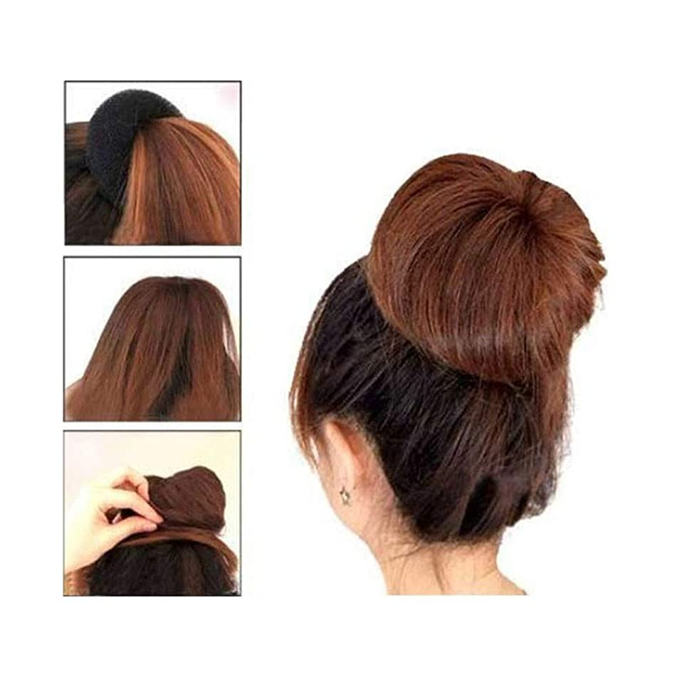 ? Yu2d ???? ?3 Pcs Sponge Women Hair Bun Ring Donut Shaper Maker 3 Sizes Coffee
