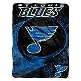 NORTHWEST NHL St. Louis Blues Micro Raschel Throw Blanket, 46' x 60', Ice Dash