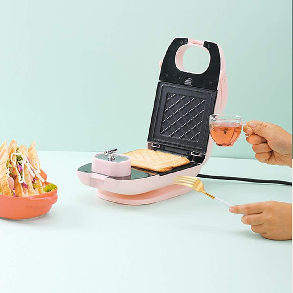 Gaufrier, Grille-Pain Portable Multifonction, Machine à Sandwich Intelligente Antiadhésive En 5 Minutes, Beignet-Rose B-green