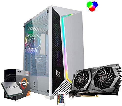 Pc gaming Ryzen 3 3200G 3.6ghz/Msi Gtx 1650 4gb/Ram Ddr4 8Gb 3200 mhz/Ssd M.2 500 Gb/Windows 10 Pro/Computer da gaming assemblato/Pc desktop gaming Ryzen Pc ryzen