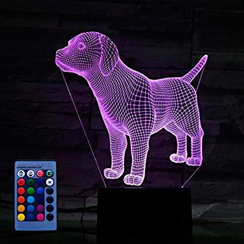 HPBN8 Ltd Kreative Hund Nacht Licht Lampe Fernbedienung USB Power 7/16 Farben 3D LED Lampe Formen Kinder Schlafzimmer Geburtstag Weihnachten Geschenke