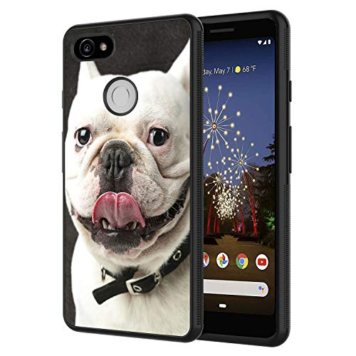 Google Pixel 2 Case,Funny French Bulldog Design Slim Anti-Scratch Shockproof TPU Back Protective Cover Case for Google Pixel 2 Case (2017)