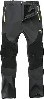 Singbring Men Women Outdoor Fleece Lined Windproof Hiking Pants Waterproof Ski Pants