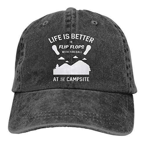 RFTGB Unisex Caps Zubehör Hüte Baseball Caps Cowboyhüte Camping Flip Flops Denim Baseball Cap, Unisex Vintage Dad Hat, Golf Hats, Adjustable Plain Cap