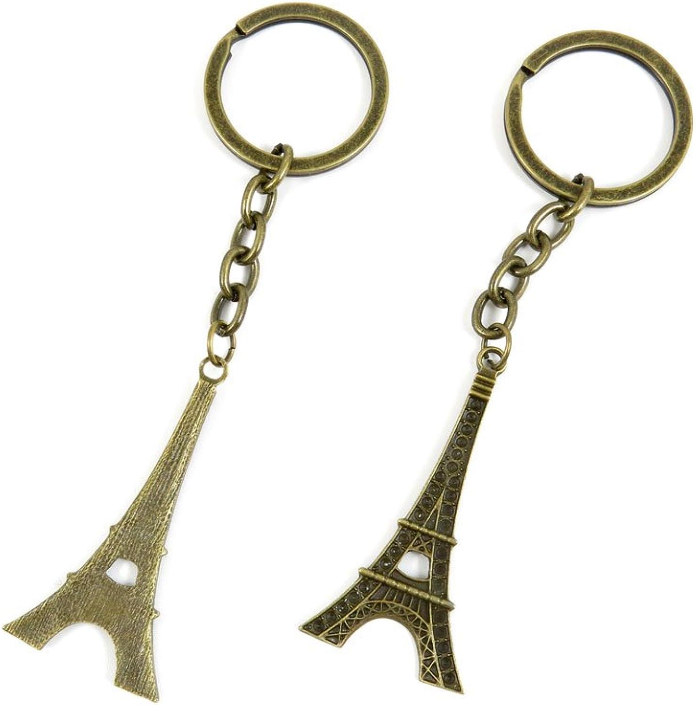 130 Pieces Fashion Jewelry Keyring Keychain Door Car Key Tag Ring Chain Supplier Supply Wholesale Bulk Lots M8IF0 Paris Eiffel Tower