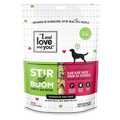 I and love and you Stir & Boom Dehydrated Freeze Dried Raw Dog Food,...