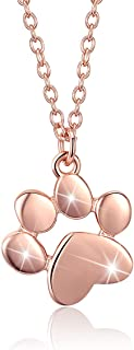 Best rose gold paw necklace Reviews