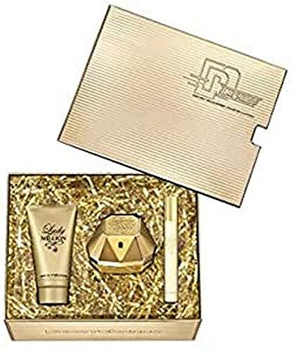 Paco Rabanne Lady Million Eau De Parfum Spray Set 3 Pezzi 2019-50 ml