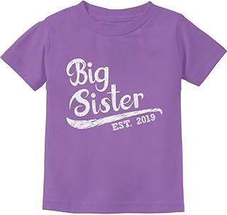 Tstars - Big Sister Est 2019 - Sibling Gift Idea Toddler Kids T-Shirt