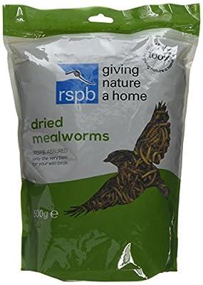 RSPB Dried Mealworms 500g by RSPB Sales Ltd