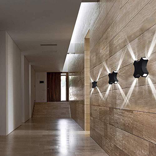 Lámpara de diseño original de luz de pared Led moderna IP65 resistente al agua IP65 para sala de estar dormitorio pasillo escalera cafetería Bar-Frío blanco