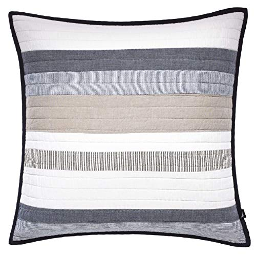 Nautica Tideway Collection-Pillow-100% Cotton Pre-Washed for Added Comfort, Easy Care Machine Washable, 20