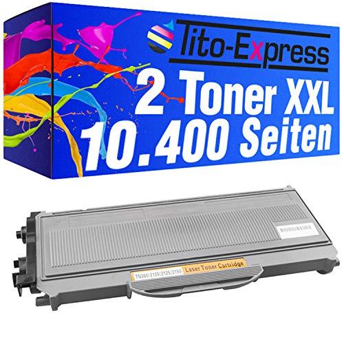 Tito-Express PlatinumSerie 2 Toner-Patronen Mega-XL Schwarz kompatibel mit Brother TN2120 HL-2140 HL-2150 HL-2150N HL-2170 HL-2170N HL-2170W DCP-7030 DCP-7040 DCP-7045N MFC-7320 MFC-7320W MFC-7340 MFC-7440