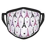 Reebos Tela de tela con patrón de torre Eiffel de color rosa y morado, transpirable, ajustable para hombres y mujeres, al aire libre, ciclismo, camping, viajes