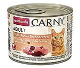 Comida para gatos animonda Carny Adult, comida húmeda para gatos adultos, pavo + corazón de pato, 6 x 200 g