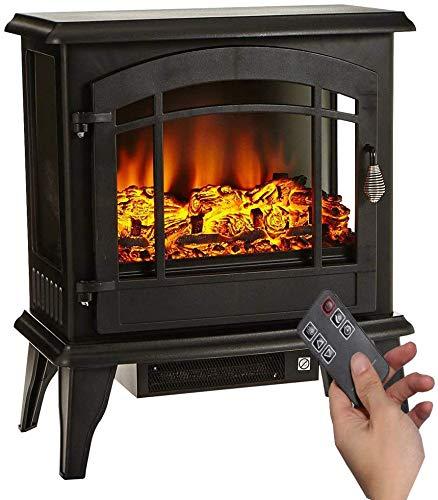 Elektrischer Kamin,Elektrischer Kamin mit Flammeneffekt 1800W 3D realistischer Feuer Kaminofen elektrisch freistehend geräuscharm,Thermostat,Überhitzungsschutz 51x28x59cm