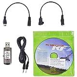 Cable simulador de vuelo USB, 22 en 1, Dongle de cable de dron RC para RealFlight G7, con cable de audio de 1,5 m, negro