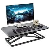 VIVO Economy Single Top Height Adjustable 29 inch Standing Desk Converter, Sit Stand Tabletop Monitor and Laptop Riser Platform Workstation, DESK-V000U