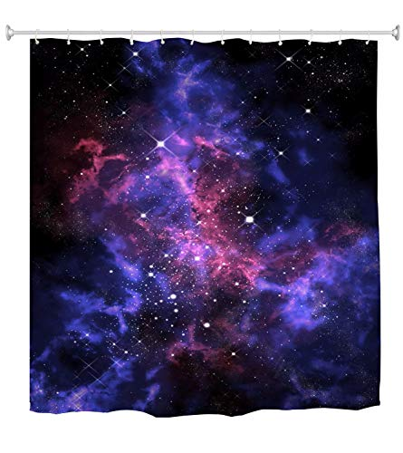 A.Monamour Duschvorhang Orion Nebula Im Universum Weltraum Galaxy Abstract Art Dekor Wasserdicht Lang Verdickt Stoff Polyester Duschvorhang Set Mit Haken 150X180 cm / 60