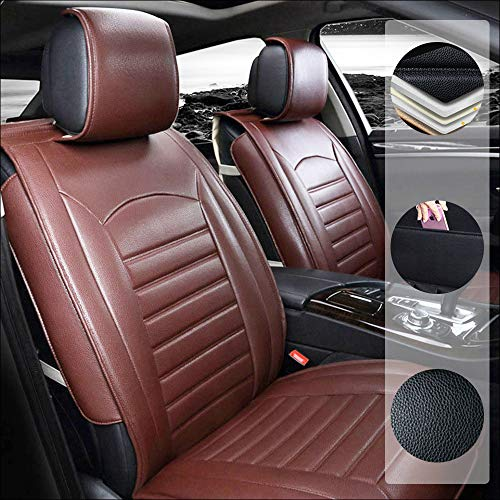 Car Seat Cover For M azda 5 6 Atenza M azda3 Axela 5-Seats Protection Soft Waterproof Full Set PU Leather Car Front+Rear Seat Pads Brown Standard 5PCS