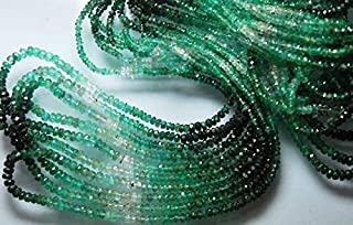 Jewel Beads Natural Beautiful jewellery 14'' Strand, Super Wholesale Price, Natural Emerald Shaded Rondelles Size 4-3mmCode:- JBB-27109