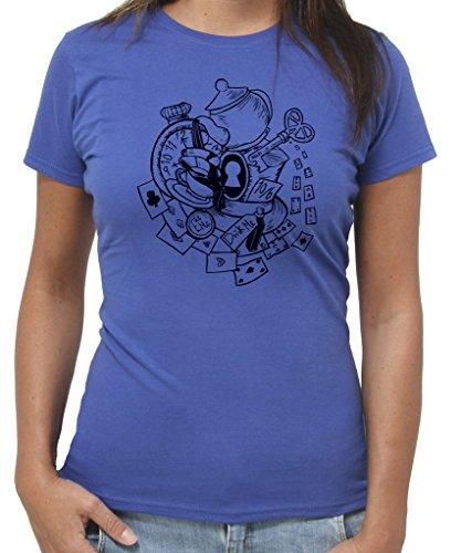New Indastria T-Shirt Alice Ora del The Cappello - by Donna-M-Blu Royal