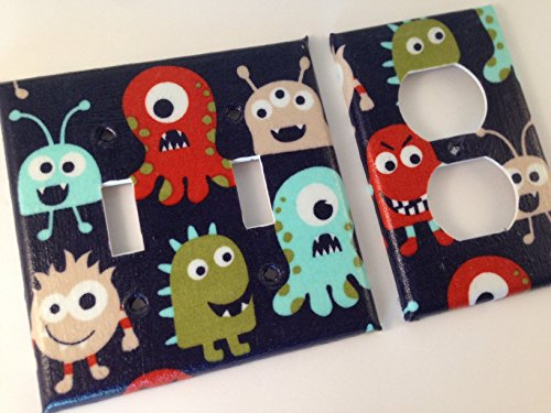 Monster Light Switch Plate - All Sizes Offered