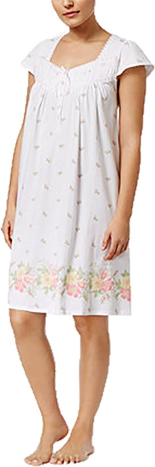 Charter Club BorderPrint Cotton Nightgown, Floral Bouquet, Small