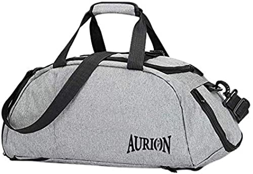 Gym Bag Duffle Bag with Shoes Compartment Wet Pocket Travel Holdall Bag for Men and Women Grey