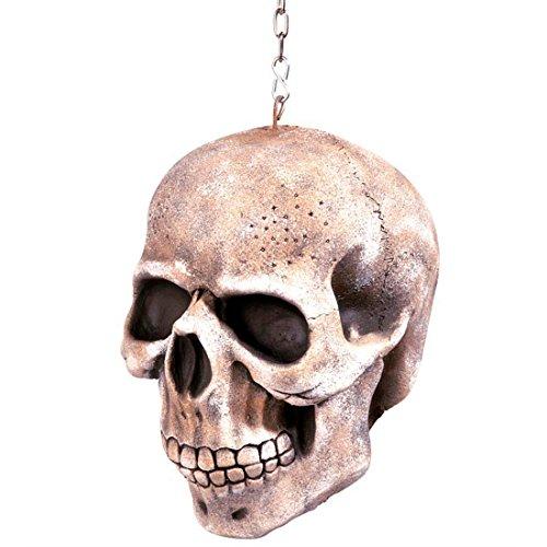 Amakando Déco crâne à Suspendre tête de Mort décoration Horreur Squelette Effrayant 20 cm décoration fête soirée à thème Veille de la Toussaint Halloween