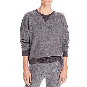 Vintage Havana Womens Fleece Embroidered Sweatshirt Gray S