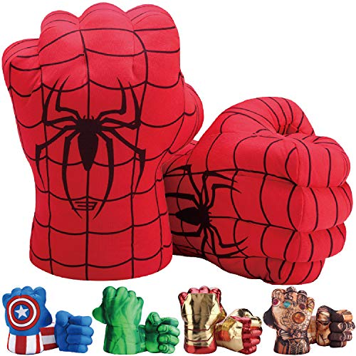 Toydaze Spiderman Gloves Hands Fists for Kids, Accessories Match for Spiderman Costumes, 1 Pair