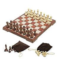 チェスセット、プラスチックチェスゲームセット国際チェス磁気ボードゲーム折りたたみチェスボードプラスチックチェスの駒チェスマンチェスセット(エンターテインメントパズルファミリー)