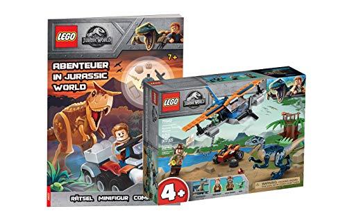 Collectix Lego Jurassic World - Set: 75942 Velociraptor: Rettungsmission mit dem Doppeldecker + Abenteuer in Jurassic World (Softcover)