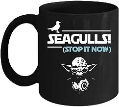 Seagulls Stop It Now Song Mug, Yoda Star Wars Cup (Coffee Mug 15 Oz - Black)