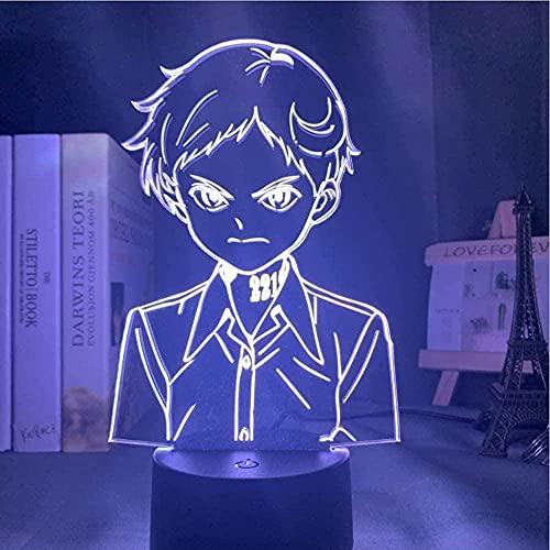 A-Generic Lamp Anime El prometido Neverland Norman LED Luz de Noche Control Remoto 16 Colores Tabla Luz Traje de Dormitorio Dormitorio