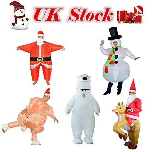 Adoture - Ropa de Navidad Hinchable, para Adultos, Navidad, Gran Turquía, Disfraz de Thanksgiving, Type A
