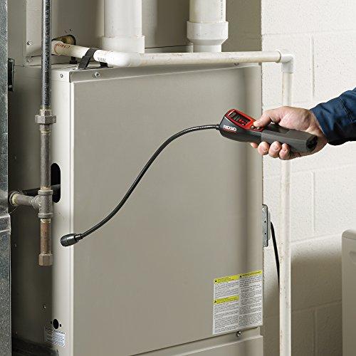 RIDGID 36163 Détecteur de gaz combustible modèle micro CD-100, détecteur de fuite de gaz Rouge