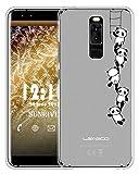 Sunrive Für Leagoo S8 Hülle Silikon, Handyhülle matt Schutzhülle Etui Case Backcover für Leagoo S8(TPU Panda 1)+Gratis Universal Eingabestift