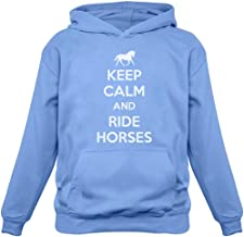 TeeStars - Keep Calm Ride Horses - Horse Riding Women Hoodie