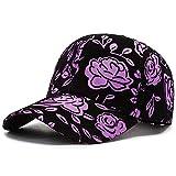 NMBD Gorra de béisbol de Las Mujeres Simples Pintura Bordado de los floristas Snapback Cap Mujer Mujer del Acoplamiento del Verano del Sombrero de Sun Regalo Hombre Ajustable KAIRUI (Color : Purple)