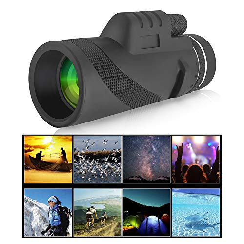 Atralife Telescopio Monocular, 40 X 60 HD Zoom óptico Telescopio con Trípode Estuche y Teléfono Adaptador, Telescopio Movil para Caza Acampar Observación Aves Juego de Fútbol