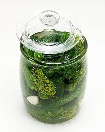 chomik Gurkenglas, Einmachglas, Einmachgläser, Einweckglas aus Glas mit Deckel 2,25L/5L/8L/10L (10L)