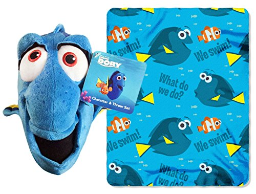 Disney Pixar Finding Dory Plush Figurine Doll Hugger and Blanket Throw Gift Set
