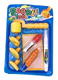 xcivi Aqua Water Doodle Pens Stamps and Roller Stencils Accessory for Aqua Water Doodle Painting Drawing Mat Board (Yellow)