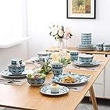 VEWEET, Tafelservice Serie 'Audrie' aus Porzellan, 32-teilig Kombiservice beinhaltet 10,75 '' Speiseteller, 7,5 '' Desserteller, 5,5 '' Schüssel und 380ml Kaffeebecher,Komplettservice für 8 Personen - 8