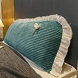 WSZMD Praktisch für Bett, Sofakissen, Schlafsaalmatratze, großes Kissen, süßes Schlafzimmer, einfarbiges Rückenkissen, leicht zu entfernen, weich und Bequem,I-0.9/1Meter