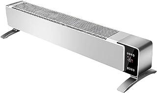 Calentador Zócalo Eléctrico Panel Diseño Silencioso Radiador Convector, con Termostato Incorporado, con Temporizador Y Control Remoto, para El Hogar Y La Oficina.