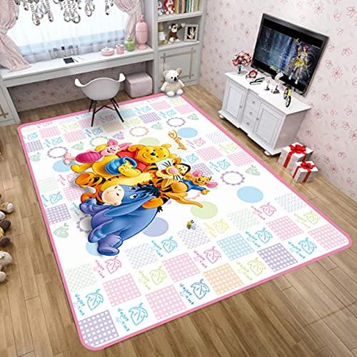 yug Alfombra Lavable De Dibujos Animados Winnie The Pooh Alfombra De Baño Habitación De Los Niños Alfombra De Balcón Alfombra De Dormitorio Rectangular Decoración De Terciopelo Corto
